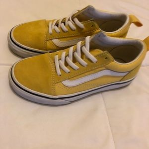 Kids size 2 yellow vans